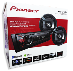 Car Audio COMBO PIONEER ESTEREO + 2 PARLANTES 6´  MXT-S216BT