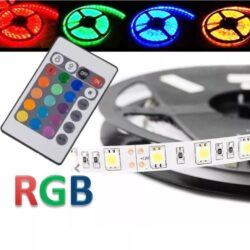 Iluminacion TIRA LED RGB 3M C/CABLE + CONTROL CAUTION
